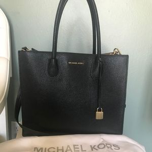 Michael Kors Black Leather Satchel Purse